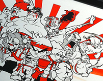 "Street Fighter ""Classic Warriors"" Art Print by Lain 3"