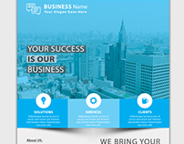 Corporate Flyer With Business Card
