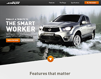 Ssangyong Actyon Sports website