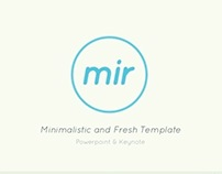 mir - Minimalistic and Fresh Presentation Template