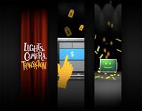 Lights, Camera, Transaction! banner ad