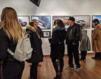 Automotive Art Gallery Exhibition Flyer