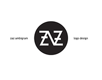 ZAZ ambigram logo design project