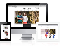 """Website and Blog for """"YELLOW"""" Fashion Brand"""
