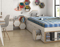 Student Mattress // Product CGI