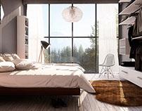 Master bedroom_house O Madrid, Spain