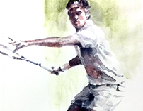Federer on sketch book