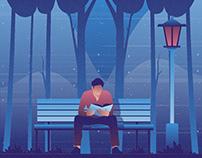 Reading A Book Illustration 03
