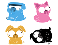 CMYK pugs