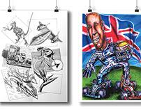 Speed Ilustration // Lewis Hamilton Illustration