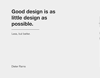 Dieter Rams | Less, but better.