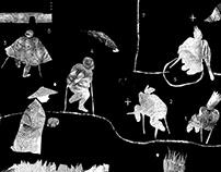CENDRES DES HOMMES: Collages.
