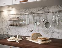 Кухня с гусями