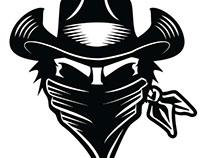 Masked cowboy vector image.