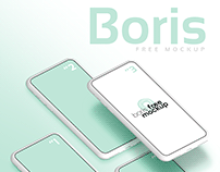 White iPhone Mockups Flatlay by Boris Free Mockup