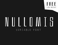Nullomis – Variable Font | Free Font