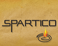 Spartico Pizzeria Logo, Website, Menus and Flyers
