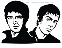 Gallagher brothers, vector image.