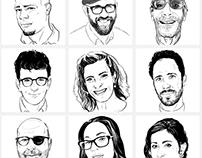 Portraits for Popularium