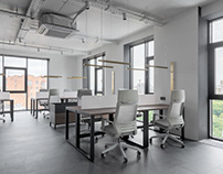 Minimalistic office in the center of the Kyiv