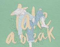 2017, take a break, illustration