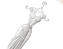 'Temperley' - Wedding Dress Illustration