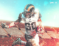 NFL Art | Todd Gurly | Los Angeles Rams
