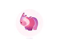 Rhino Gradient Illustration
