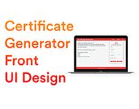 Certificate Generator UI Design