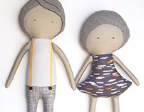 ANTHRACITE Collection Artisanal dolls