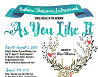 Poster Design for BSF production of AS YOU LIKE IT