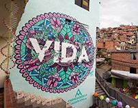 """Fresque """"VIDA"""" Graffitour"""