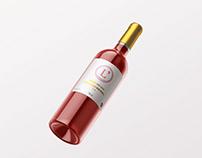 Packaging fictif pour une marque de vin
