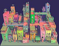 Voxel city - Voxel art