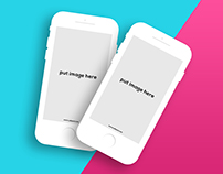 Free Apps Mockup For iPhone Psd Download