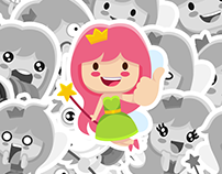 FAIRY LEYA. Vkontakte stickers set – 2014