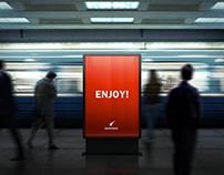 Lightbox Subway Billboards Mock-Ups