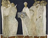 "My diploma project ""Donators of iconostasis"" 60x40 cm."