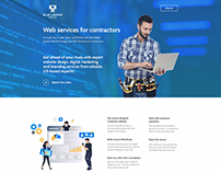 Landing page design for marketing agency