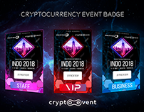 Conference badge and banners