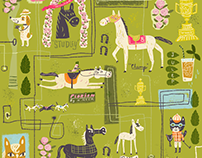 """The horsey set"" fabric"