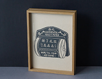 Toilet Paper Linocut [Westside Prints]