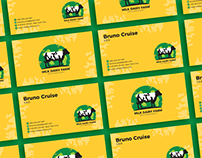 Free Milk Dairy Farm Business Card Design