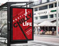 Póster tipográfico de festival