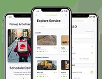 UI/UX Design Concept for Pickup & Deivery App