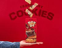 【三只松鼠·蔓越莓曲奇】零食包装Cookies(snacks)packaging