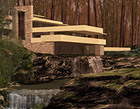 waterfalling house (free interpretation)