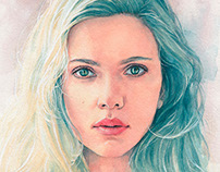 Scarlett Johansson watercolor