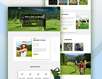 GOLF CLUB Home Page Concept