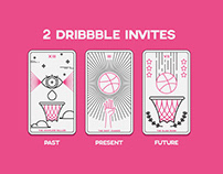 Dribbble tarot invites
